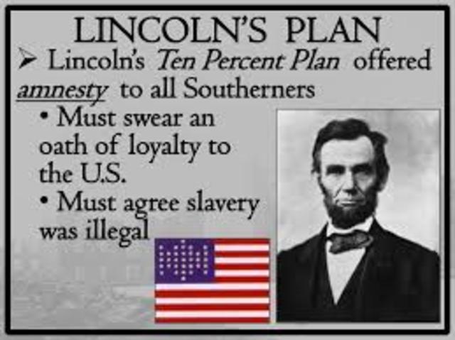 Plans (Lincolns 10% plan)