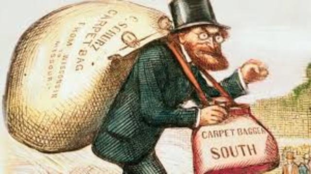 Life for whites Reconstruction South (Carpetbaggers)