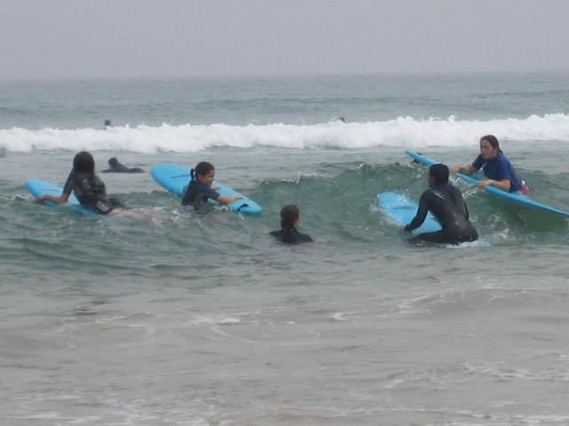 Nire lehenengo surf klaseak