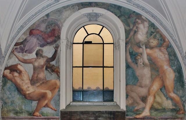 Rosso Fiorentino, Progenitori, cappella Cesi, s.Maria della Pace, ROMA