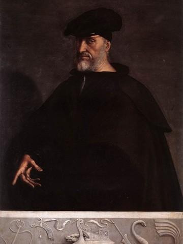 Sebastiano del Piombo,Ritratto di Andrea Doria,1526, olio su tavolaGenova, Palazzo del Principe