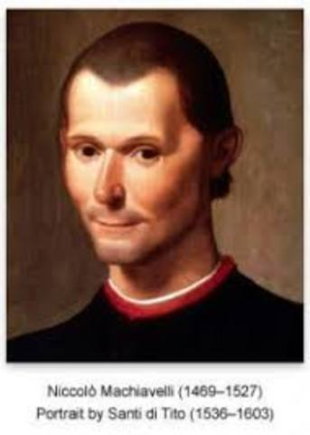 "Niccolo Machiavelli writes ""The prince"""