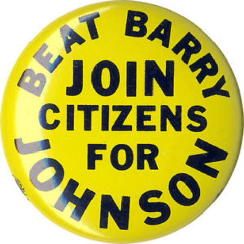 Johnson Beats Goldwater