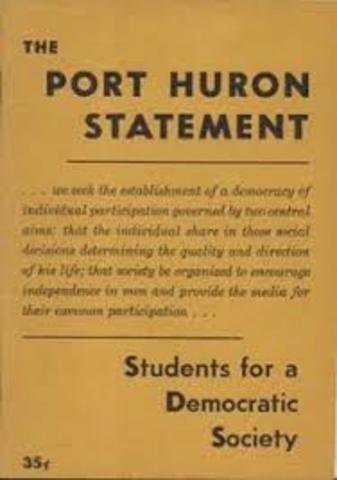SDS releases its Port Huron statement