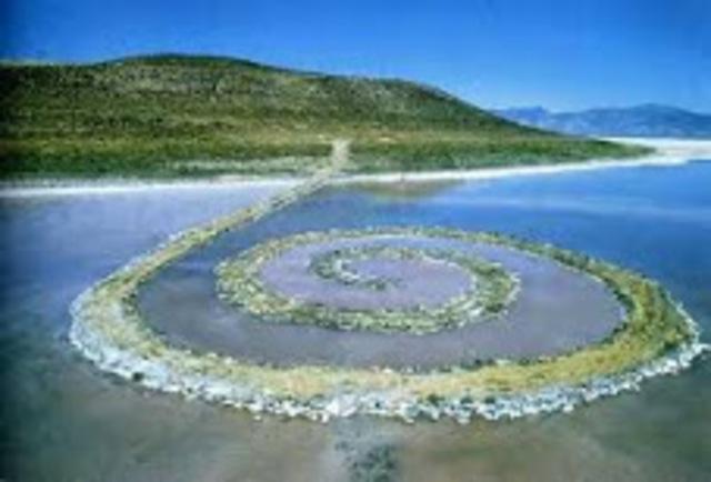 Spiral Jetty - sculpture - Robert Smithson