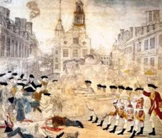 Paul Revere in the Boston Massacre