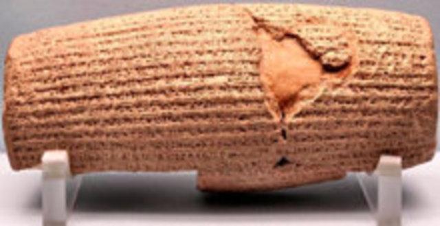 The Cyrus Cylinder (539 B.C.)