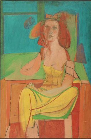 Seated Woman- Willem de Kooning