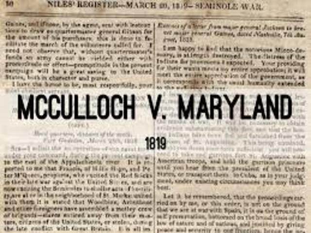McCullough vs Maryland