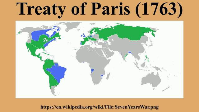 French and Indian War/ Seven-Years War: Treaty of Paris-1763