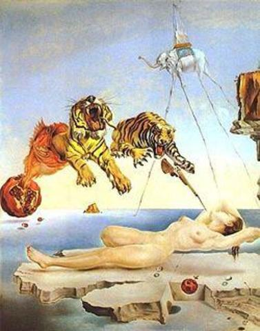 Dream Caused by the Flight of a Bee Around a Pomegranate a Second Before Awakening- Salvador Dalí