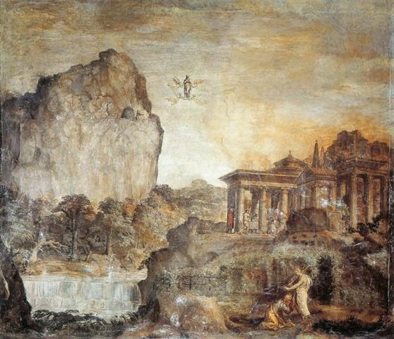 Polidoro da Caravaggio, scene della Maddalena, Cappella di Mariano Fetti in San Silvestro al Quirinale