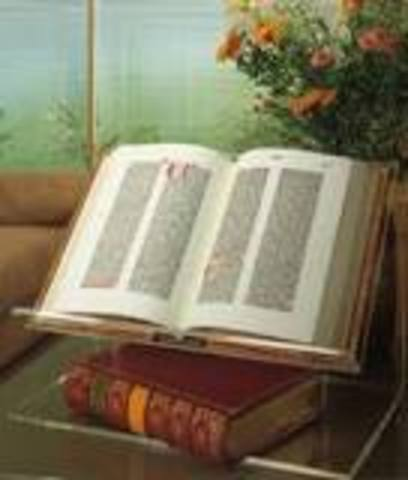 Gutenberg prints the first bible