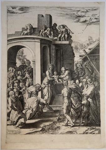 Cherubino Alberti da Rosso Fiorentino, Adorazione dei Magi
