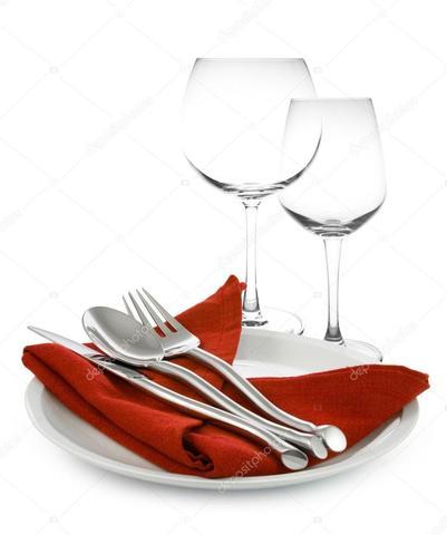 Uso del tenedor y copas de cristal en Francia