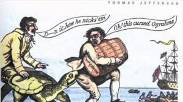 Problems with British in Embargo Act