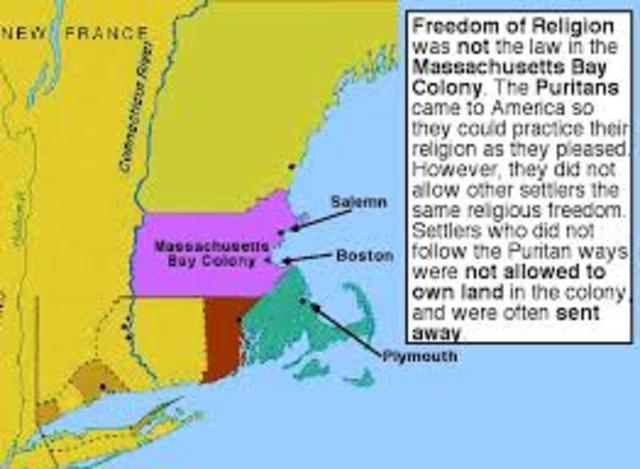 Massachusetts bay colonies