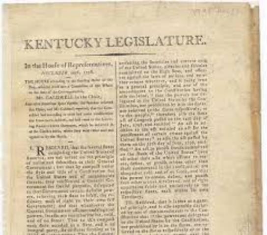the Kentucky resolutions