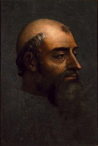 Sebastiano del Piombo,Ritratto di Clemente VII con barba,1529-1531, olio su lavagnaNapoli, Museo di Capodimonte