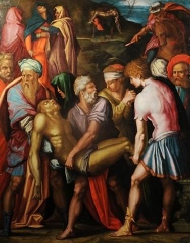 Vasari, Deposizione nel sepolcro,1532, olio su tavolaArezzo, Casa Vasari