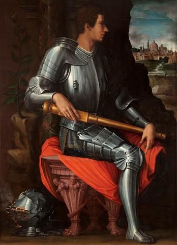 Vasari,Ritratto del duca Alessandro Armato,1533-1534, olio su tavolaFirenze, Galleria degli Uffizi