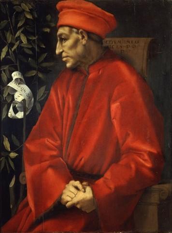Pontormo, ritratto di Cosimo il Vecchio, 1519-20, Uffizi