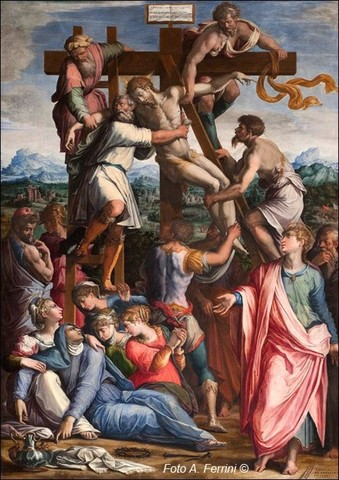 Vasari,Crocifissione, 1540, Camaldoli, Arcicenobio
