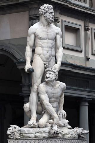 Bandinelli, Ercole e Caco:arrivo del marmo