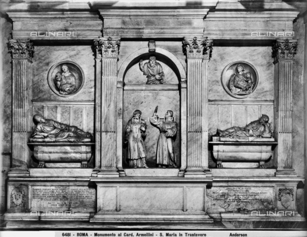 Andrea Sansovino, Monumento card. Corradini e Armellini, S.Maria in Trastevere