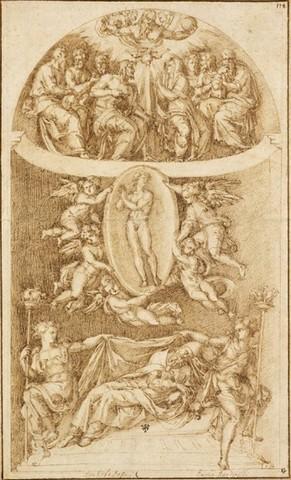 Baccio Bandinelli, Progetto per la tomba di Clemente VII,1533 CA, Providence, Rhode Island School of Design