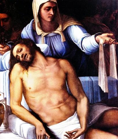 Sebastiano del Piombo, Pietà di Ubeda, 1539 circa, olio su lavagna, 124x111,Siviglia, Fundazione Casa Ducale di Medinaceli (in deposito Madrid, Prado)