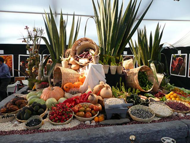 Cocina imperial Azteca. Mesa de Moctezuma
