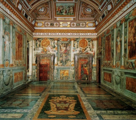 Perin del VAGA, Livio Agresti et al, Sala Paolina in castel sant'angelo