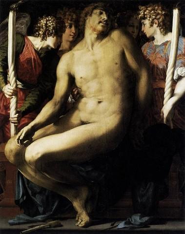 Rosso Fiorentino, Cristo morto con angeli 3, 1525-27, Boston MoFA