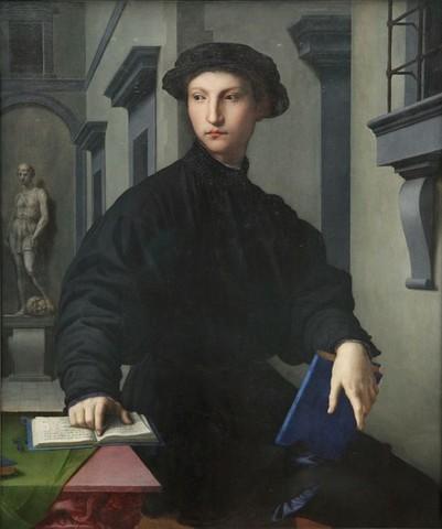 Bronzino,Ritratto di Ugolino Martelli,1536-1537, olio su tavola,Berlino, Gemäldegalerie