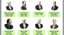 Los presidentes de Colombia  de la hegemonía conservadora timeline