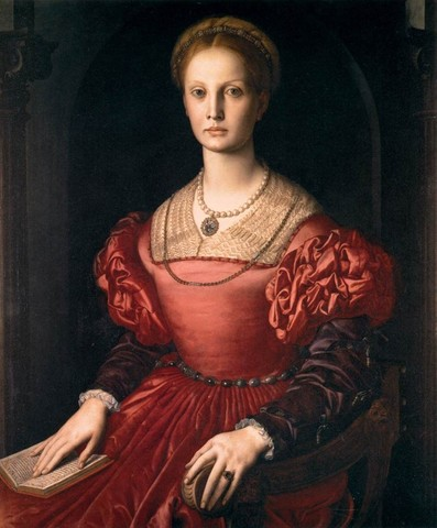 Bronzino,Lucrezia Panciatichi,1540 circa, olio su tavola,Uffizi