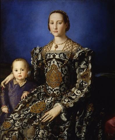 Bronzino,Eleonora di Toledo con il figlio Giovanni,1544-1545, olio su tavola,Uffizi