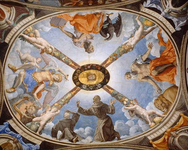 Bronzino, Cappella di Eleonora, volta, 1540?-1541
