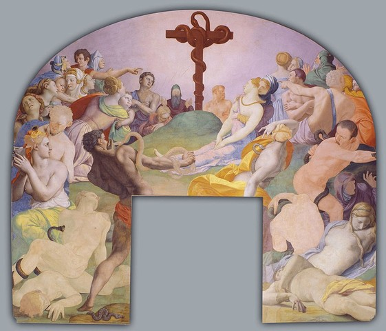 Bronzino,cappella di Eleonora,Adorazione del serpente di Bronzo