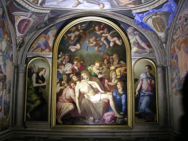 Bronzino,cappella di Eleonora,Deposizione,1553
