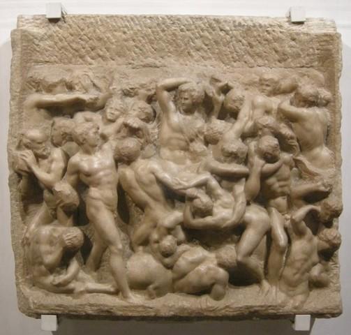 Michelangelo,Battaglia dei Centauri,1492,Casa Buonarroti