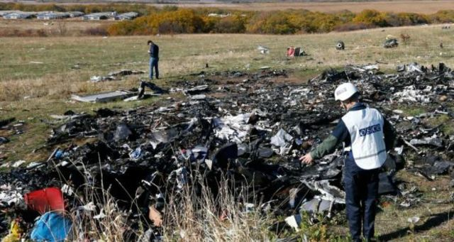 17 July 2014: Malaysian Airlines flight MH17 shot down