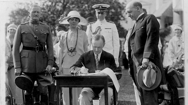 President Calvin Coolidge is elected president