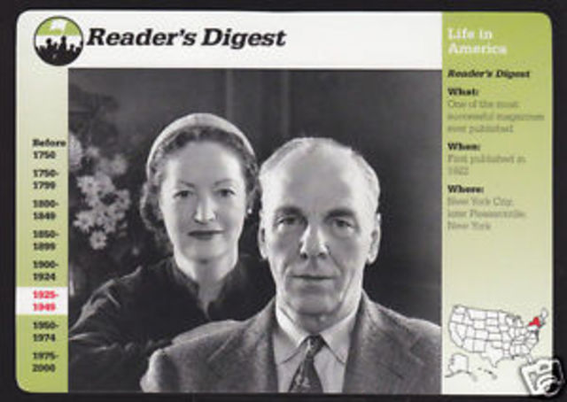 Readers digest is founded