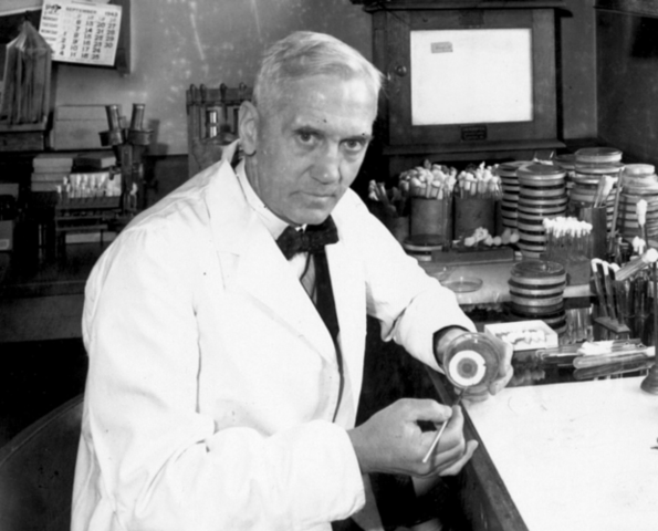 Alexander Fleming discovers penicillin