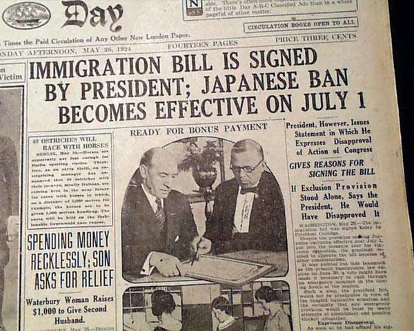 The National Origins act was passed