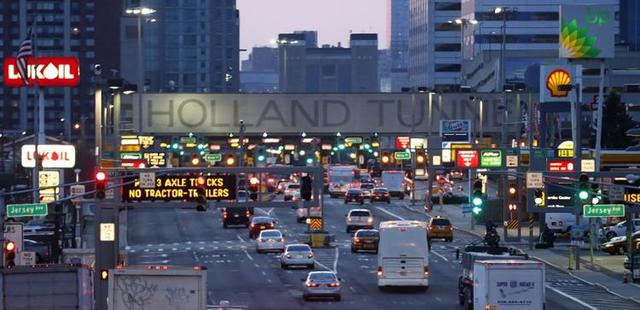 The Holland Tunnel connecting NYC and NJ opens