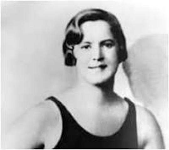 Gertrude Ederle is the first woman to swim the English Channel