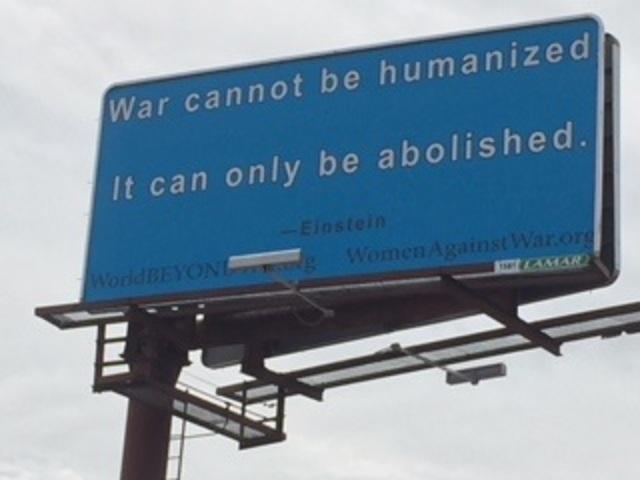 Einstein Vigorously Campaigns Against War
